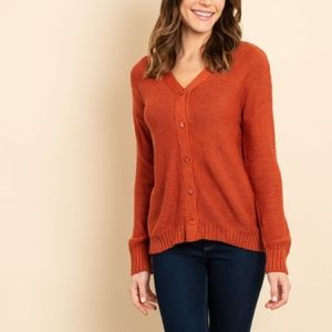 🌸SALE🌸 Rust Knit Button Front Cardigan Sweater